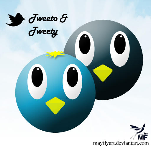 Tweeto and Tweety by MayFlyArt