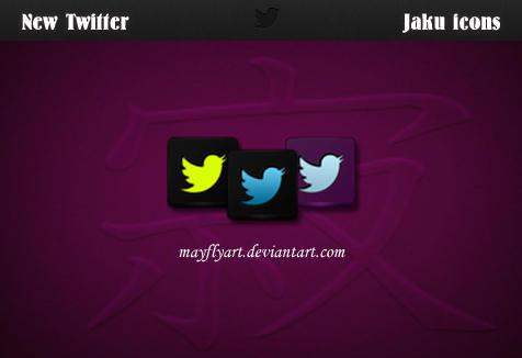 New Twitter Jaku icons by MayFlyArt