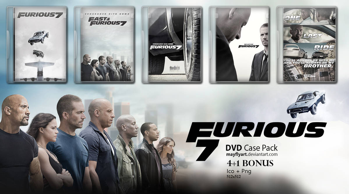 Furious 7 DVD Case Pack