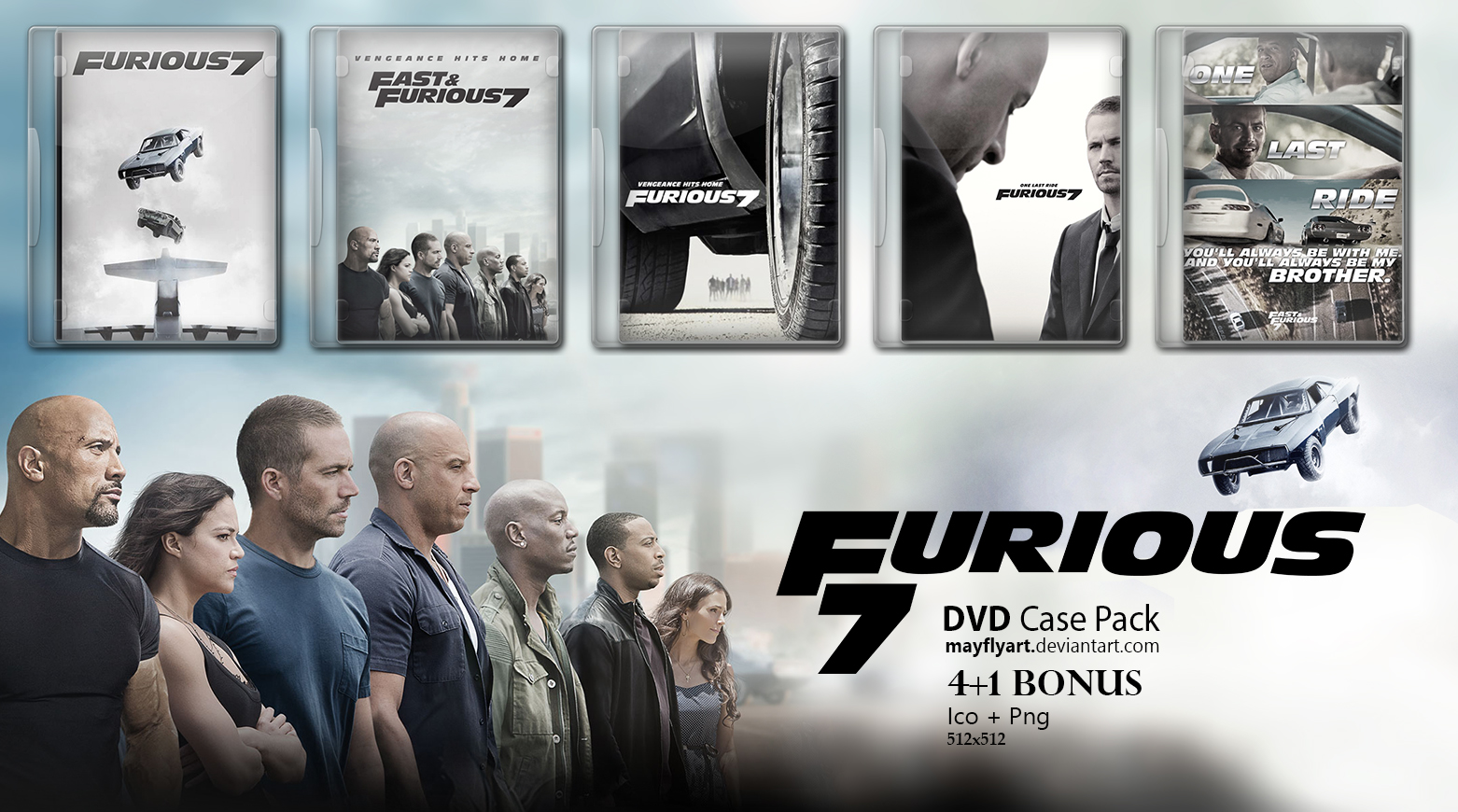furious 7 dvd case pack by mayflyart on deviantart. Black Bedroom Furniture Sets. Home Design Ideas