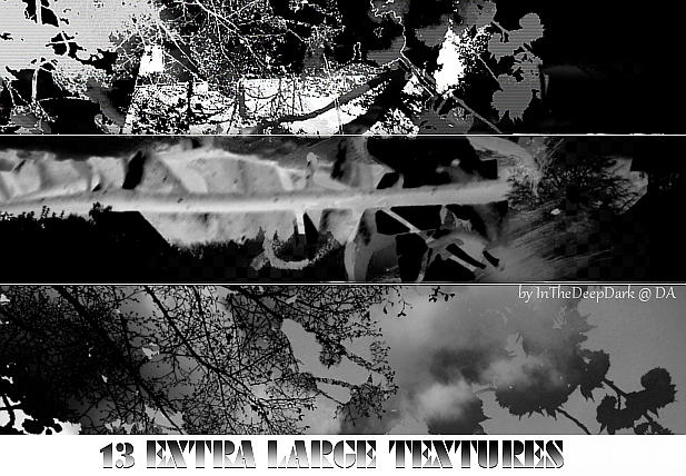 13 extra large textures - dark by InTheDeepDark