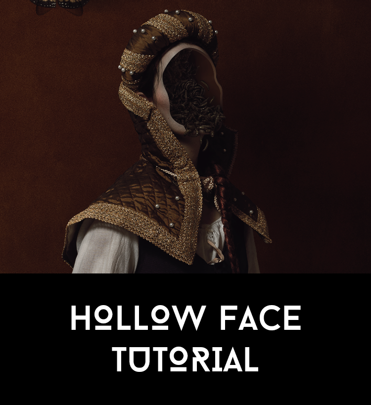 Hallow Face Tutorial by AbbeyMarie