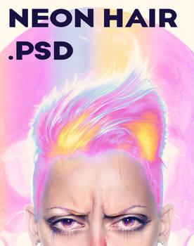 Neon Hair .PSD