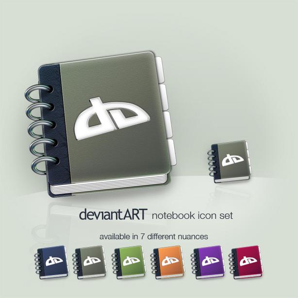 deviantART notebook icon set by Tamachan87