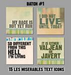 Les Miserables text icons 1