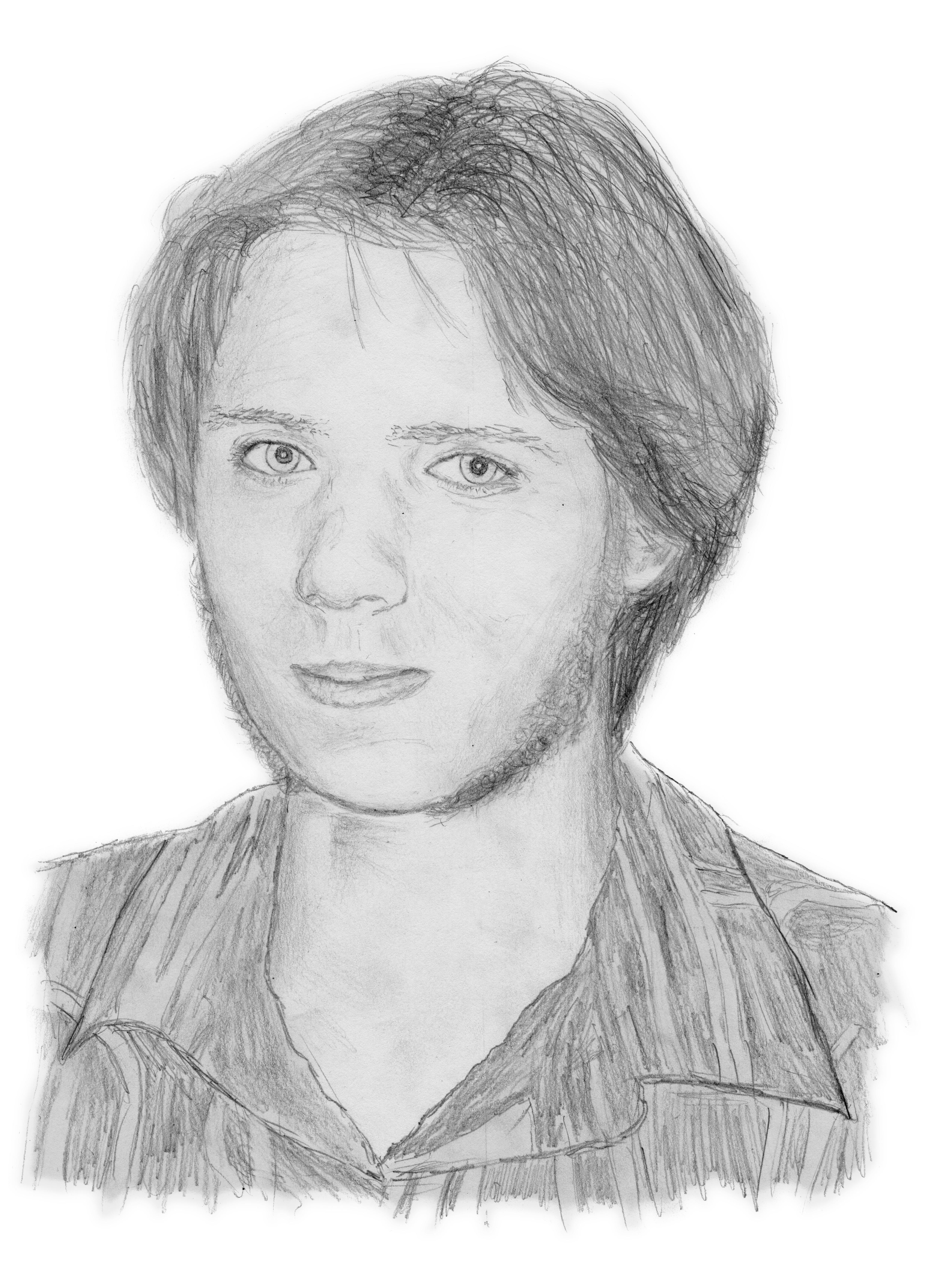 Pencil portrait without glasses