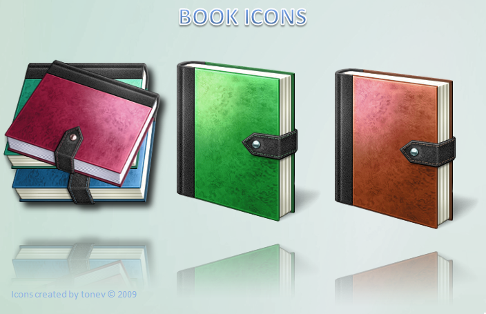 Vista book icons