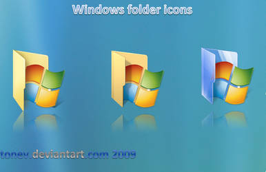 windows folder icons by tonev