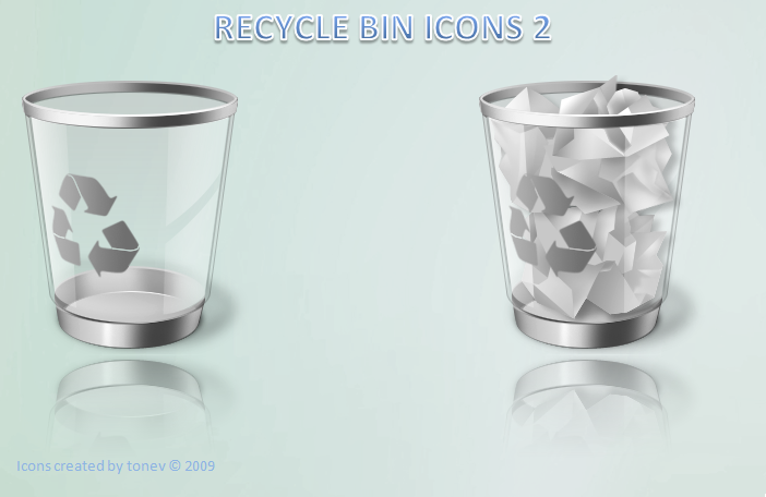 gray recycle bin by tonev