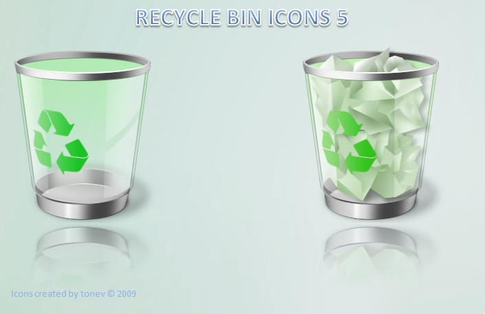 windows recycle bin icons