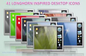 41 longhorn desktop icons by tonev