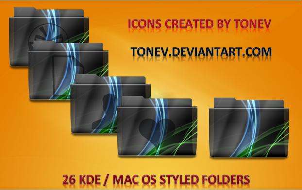 Vista KDE Leopard folders by tonev