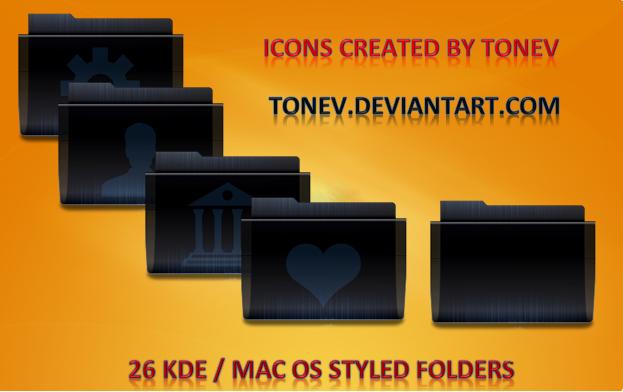 Black 3 KDE Leopard folderes by tonev