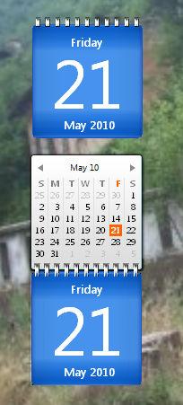 Luna Calendar gadget