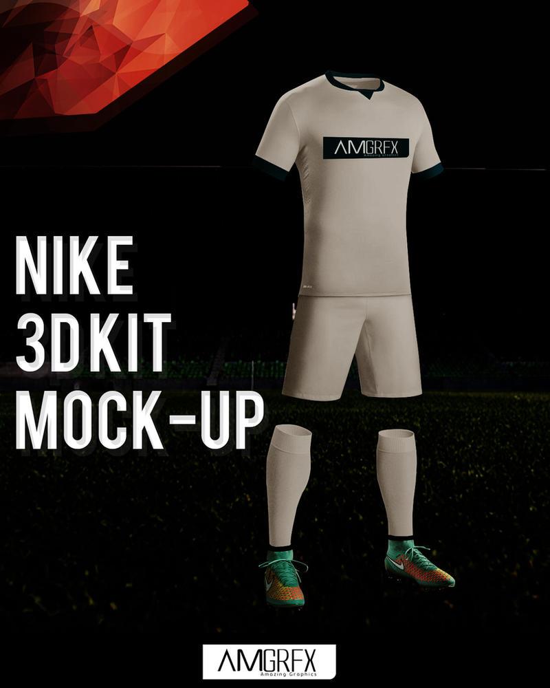 amgrfx nike 3d kit mockup by tourbido on deviantart