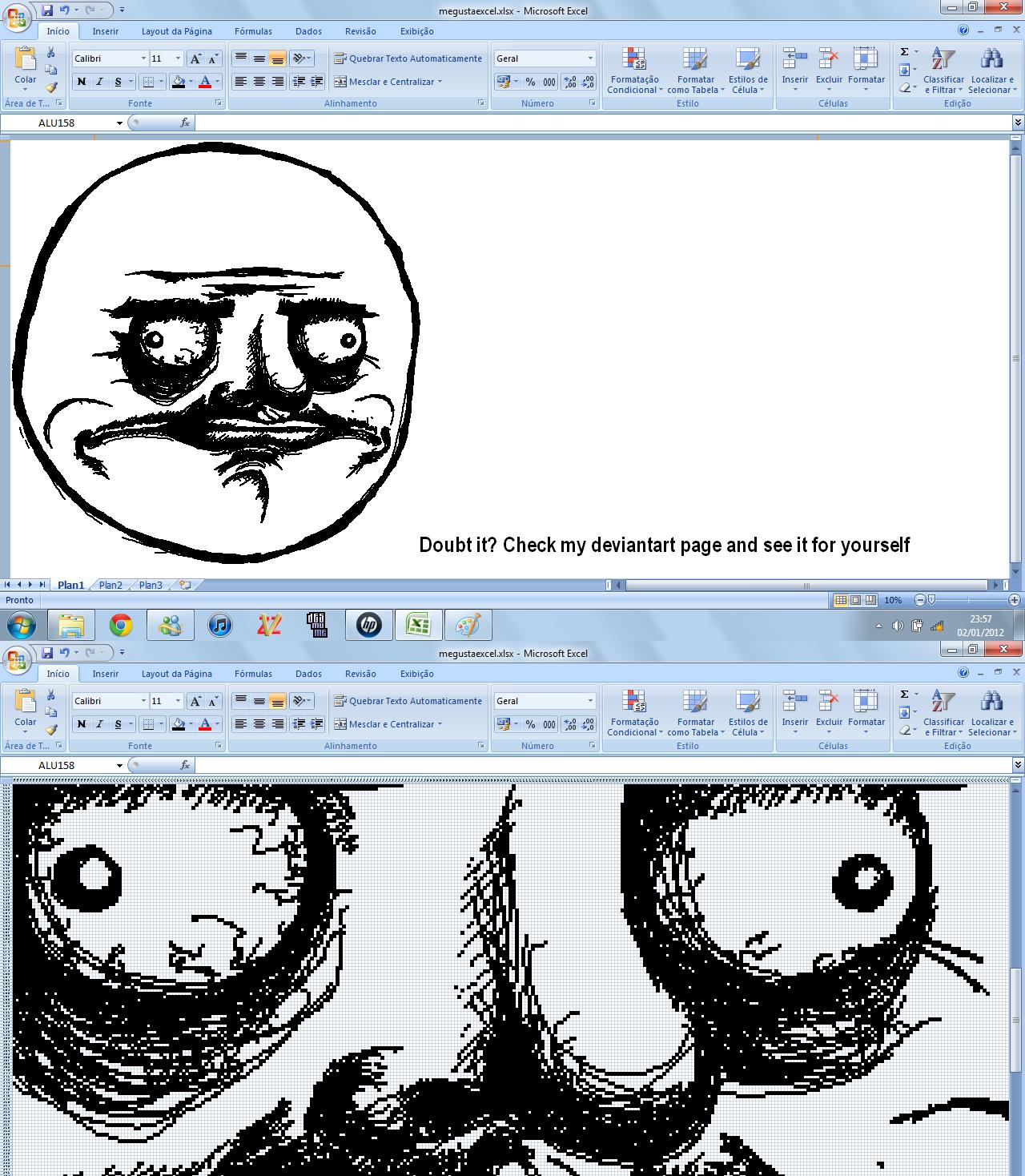 Me Gusta on Excel by thetokomitsu