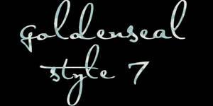 Goldenseal Style Seven by goldensealgraphic