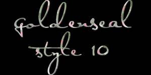 Goldenseal Style Ten by goldensealgraphic