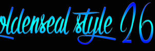 Goldenseal Style 26 by goldensealgraphic