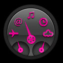 pink and black dashboard