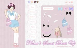 Nana's Sweet Dress Up Game by SleepyUsagi