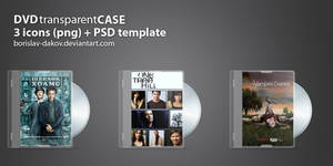 DVD transparent case + PSD by borislav-dakov