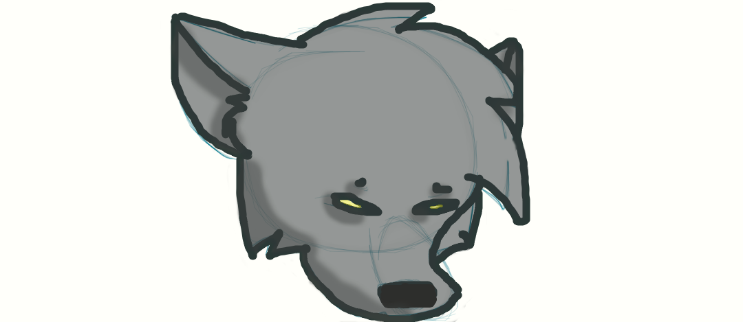 colored wolf head by Aenta2001
