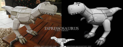 Espressosaurus (T-Rex Version) by Aphius