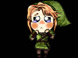 chibi link cry 'cause of navi
