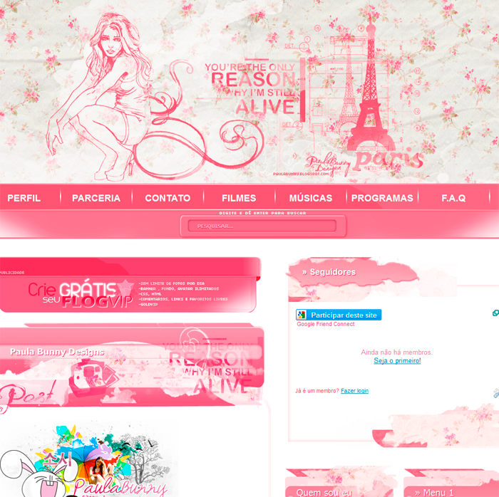 Template Blogspot Free Download By Paula Bunny On Deviantart