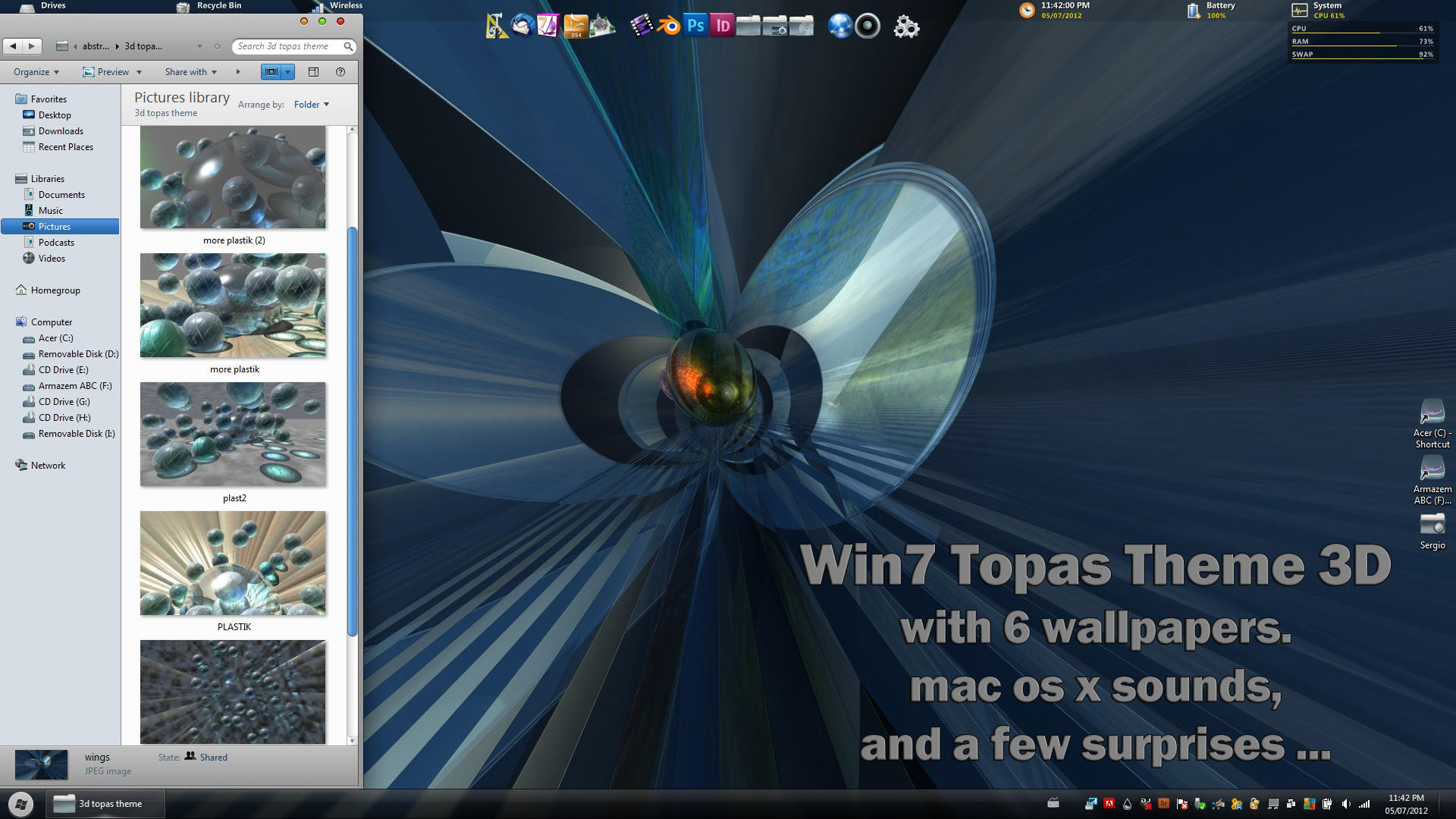 WIN 7 TOPAS THEME 3D by Topas2012
