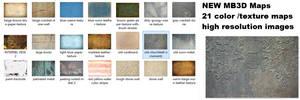 21 New MB3D Textures and color Maps Pack