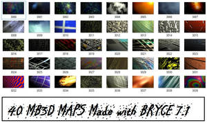 MB3D - BRYCE 7.1 Color / texture MAPs