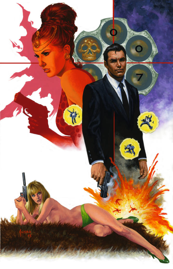 JAMES BOND Store Exclusive Comic Cover by JoeJusko