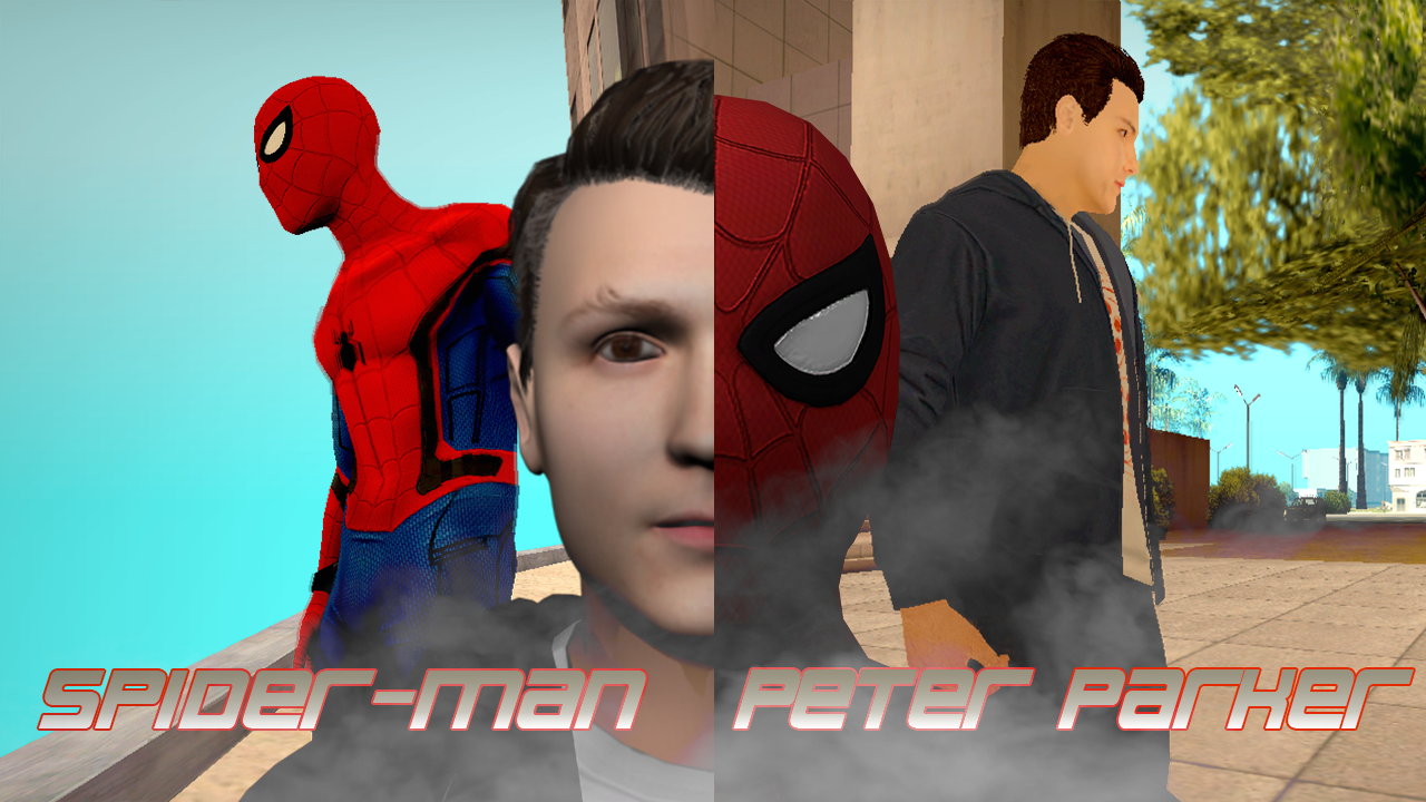 Skins Spider-Man And Peter Parker GTA Sa by LaxXter on