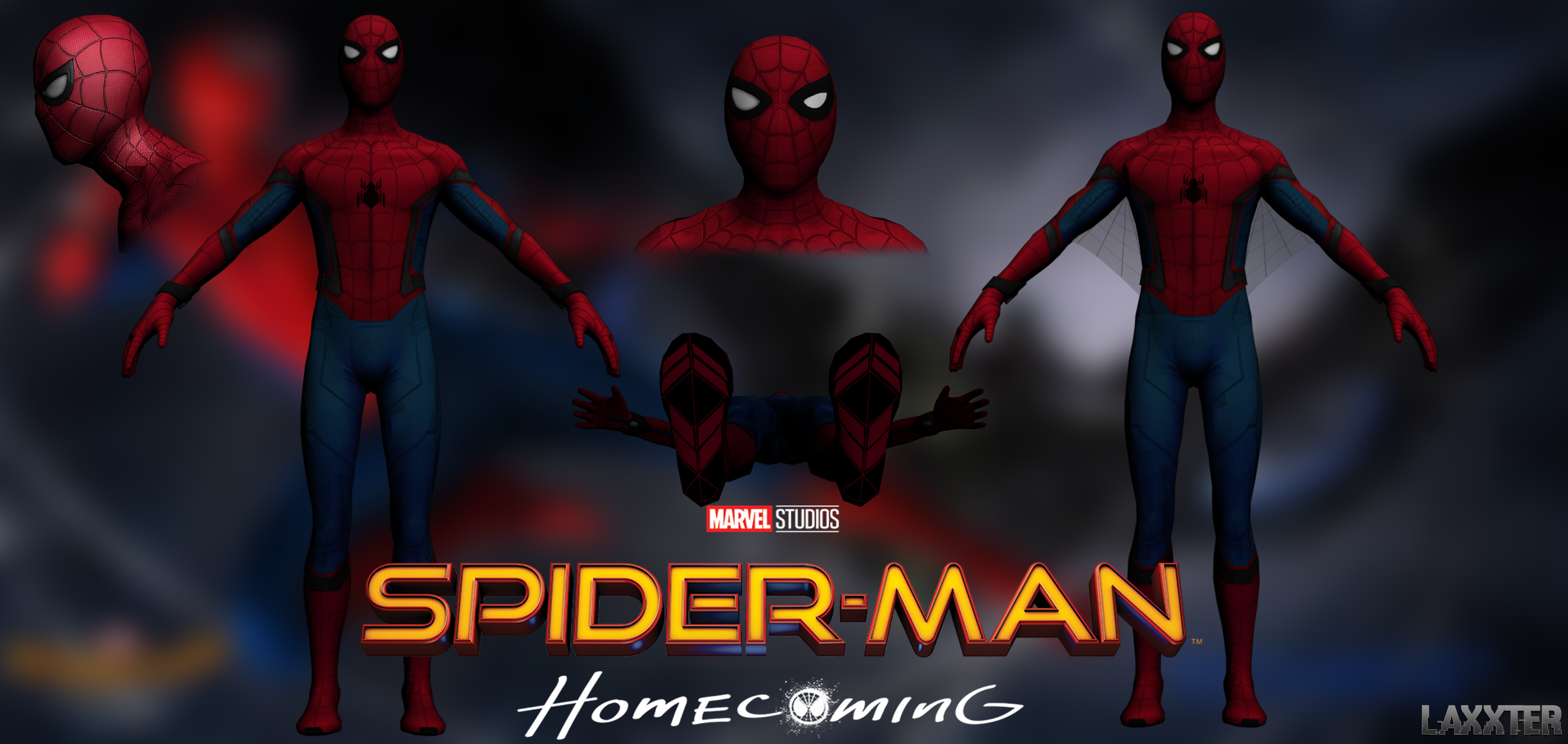 Spider-Man Homecoming obj By LaxXter