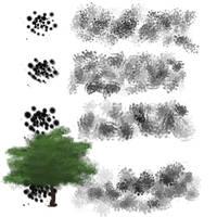Tree Leaf Brushes by Baringa-of-the-Wind