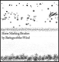 Horse Marking Brushes by Baringa-of-the-Wind