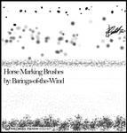Horse Marking Brushes