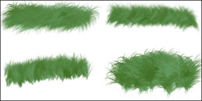 how to use grass brush in photoshop
