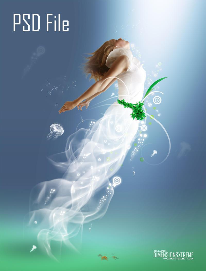PSD File - Jellyfish by zaib
