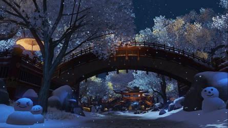 Snow bridge by SmithJerry
