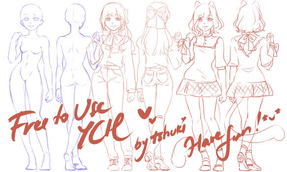 [Free to use YCH] Qt girl