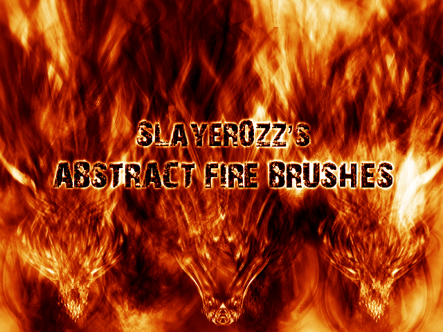 Abstract Fire Brushes by Slayer0zZ