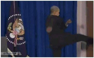 Obama Kicks door (FAKE)
