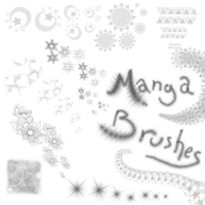 Manga Brushes by Lithe-Fider