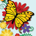 Flower Garden Vectors by chronicdoodler