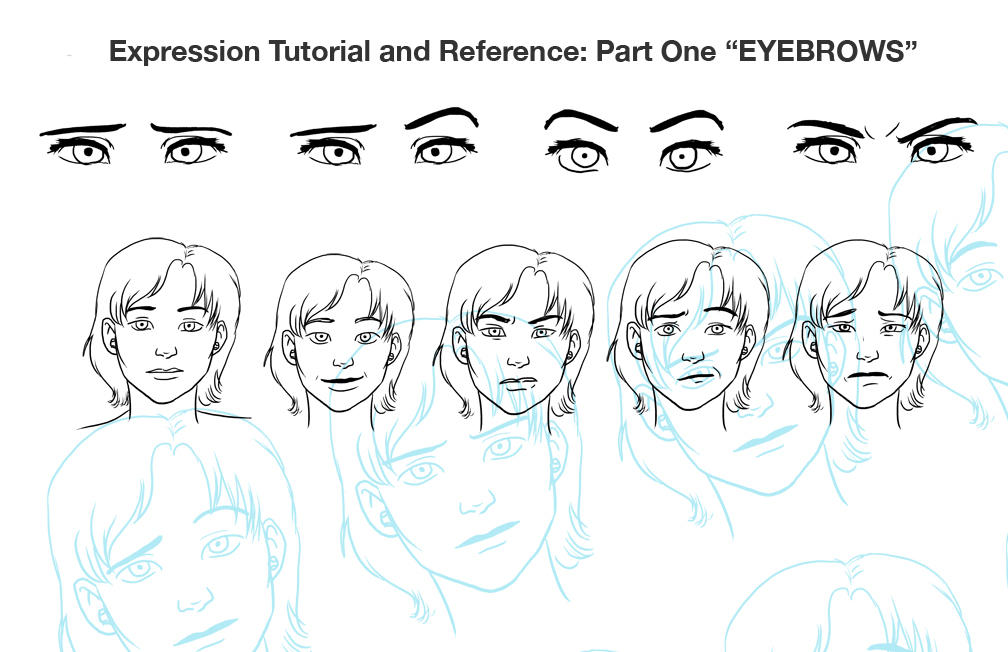 Expression Tut Pt 1 Eyebrows By Chronicdoodler On Deviantart