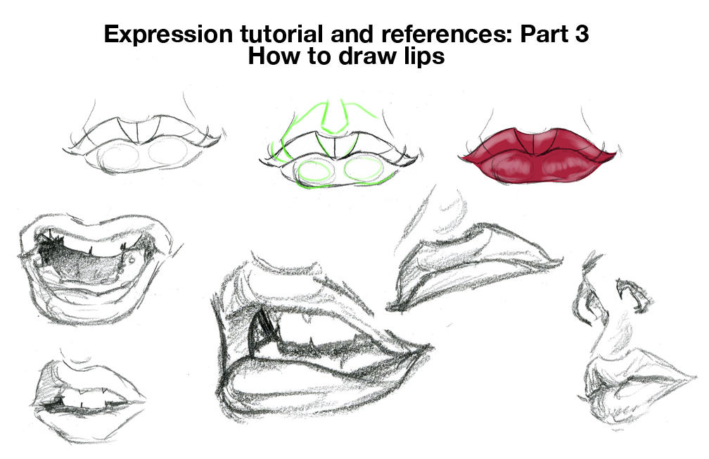 How to draw exprssns lips by chronicdoodler