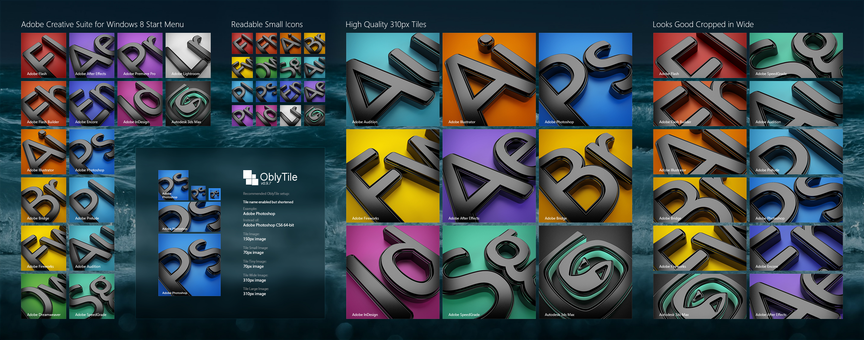 Adobe Start Tiles + 3D Studio Max by aphaits